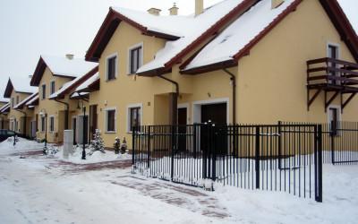 Osiedle zimą, dom typu B